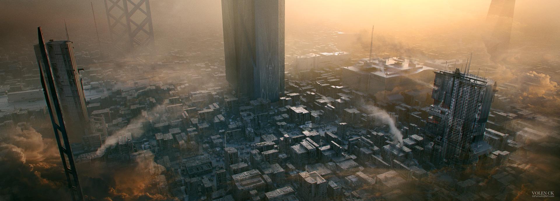 Sci-Fi-Industrial-City---Cityscape-Volen-InPursuitOfArt