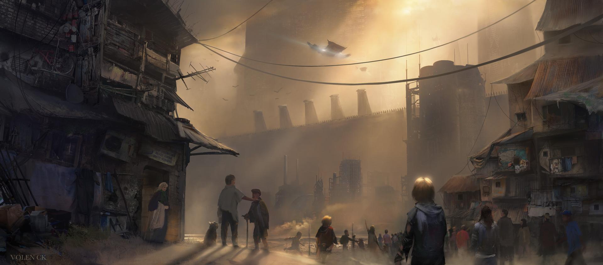 Slum-City---Volen-CK---Concept-Art---Illustration---Design
