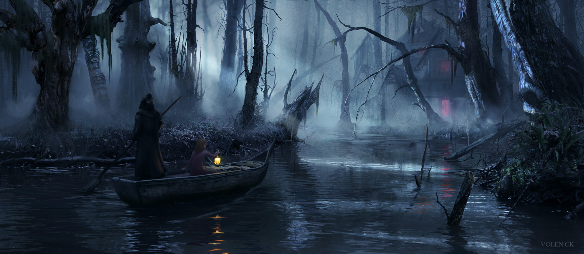 The-House-at-The-Swamp---Volen-CK---Concept-Art---Illustration---Design